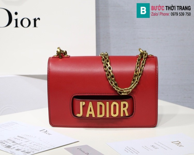 Túi xách Dior J'adior siêu cấp da trơn màu đỏ size 25cm