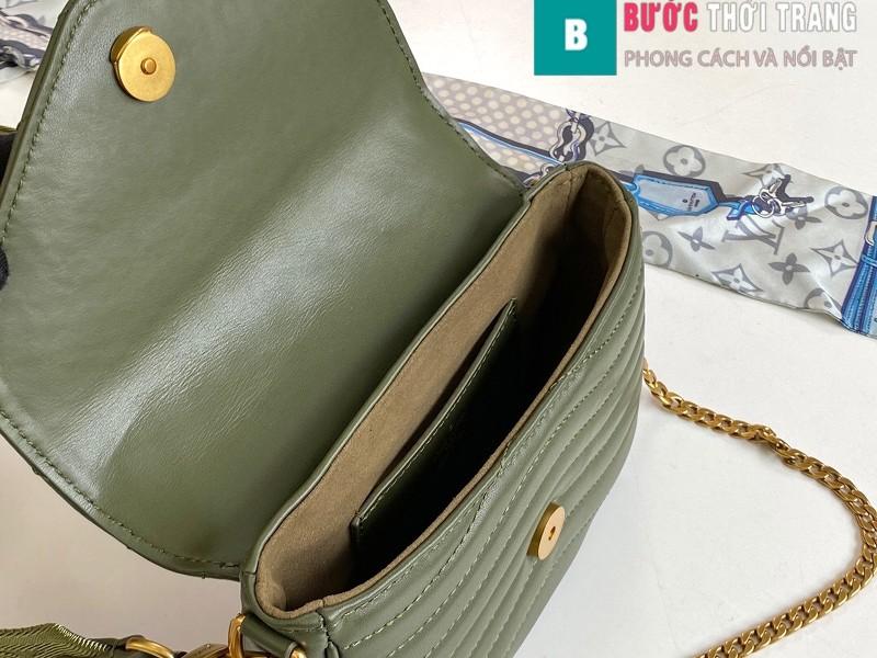 Túi xách LV Louis Vuitton New wave Multi-Pochete siêu cấp màu xanh rêu size 19cm - M56471