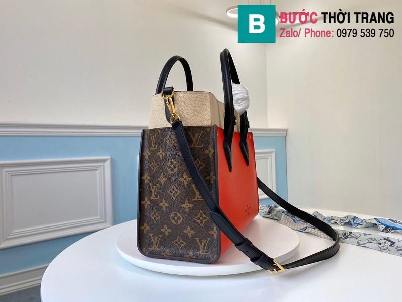 Túi xách Louis Vuitton On My Side siêu cấp da bê màu đỏ size 30.5 cm - M53824