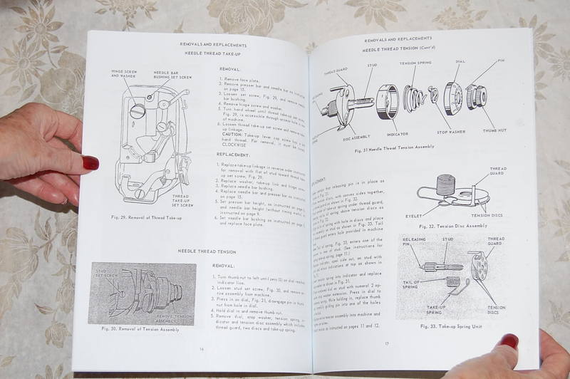 Professional Service Manual For Singer Featherweight 221  U0026 221k Sewing Machines