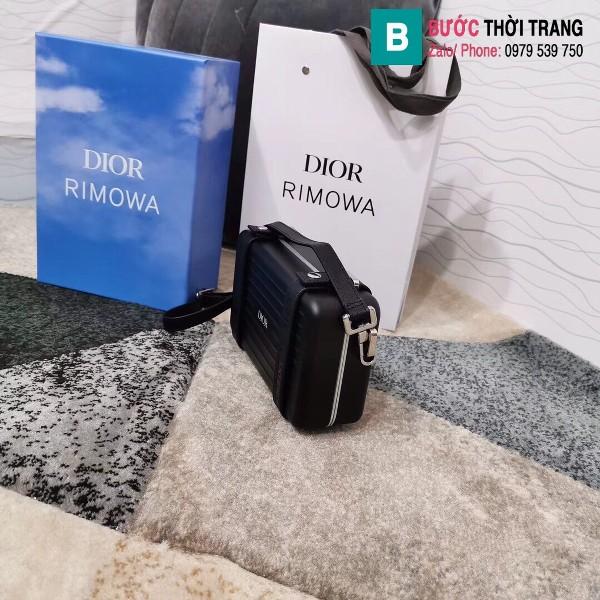 Túi xách Dior rimowa siêu cấp da bê màu nhôm đen size 20 cm