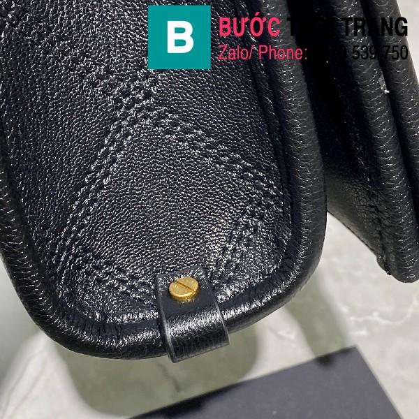 Túi xách YSL Saint Laurent Becky siêu cấp da cừu màu đen size 25cm - 629426