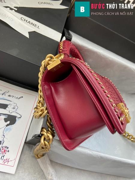 Túi xách Chanel boy siêu cấp python leather màu 12 size 20 cm - A94805
