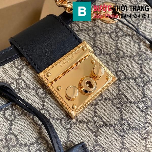 Túi xách Gucci Padlock GG small shoulder bag siêu cấp viền đen size 26 cm - 498156