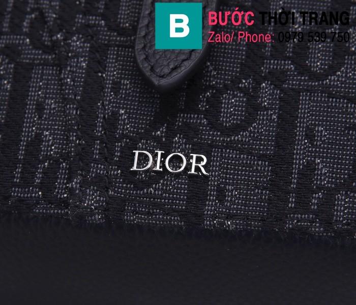 Túi đeo chéo Dior Oblique Bag siêu cấp vải casvan màu 2 size 16cm - CD93306