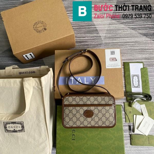 Túi xách Gucci Mini bag with Interlocking G siêu cấp casvan size 24cm - 658572