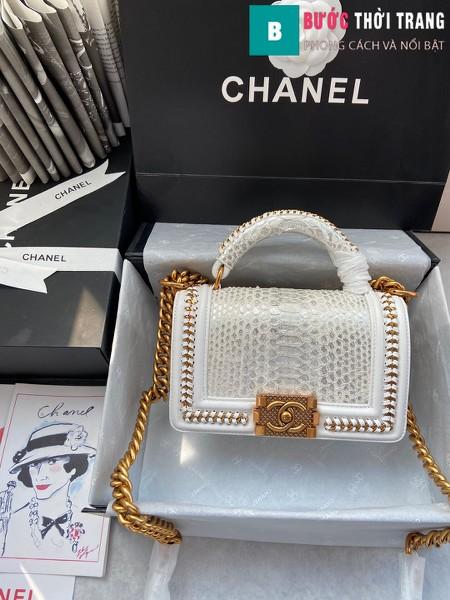 Túi xách Chanel boy siêu cấp python leather màu 11 size 20 cm - A94805
