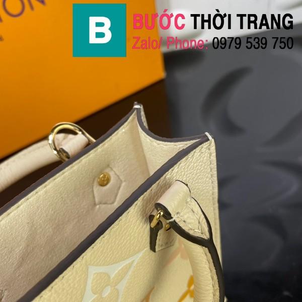 Túi xách LV Louis Vuitton Petit sac plat siêu cấp monogram màu trắng ngà size 14cm - M80449