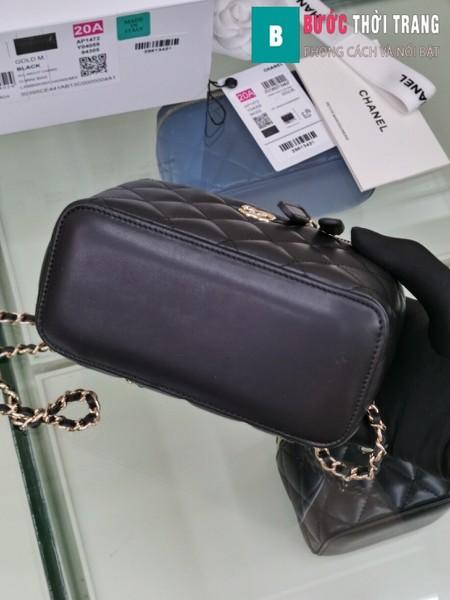 Túi xách Chanel Vanity bag with strap siêu cấp màu đen size 16 cm - AP1472y