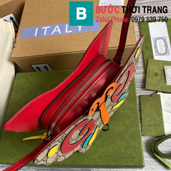 Túi xách Gucci hình con bướm siêu cấp mẫu mới casvan màu đỏ size 23cm - 648803