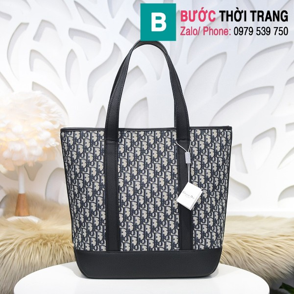 Túi xách Dior Oblique Bag siêu cấp cỡ lớn vải casvan màu 2 size 44cm