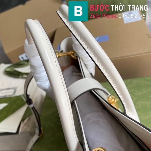Túi xách Gucci Jacki 1961 Medium Tote Bag siêu cấp màu trắng size 30 cm - 649610
