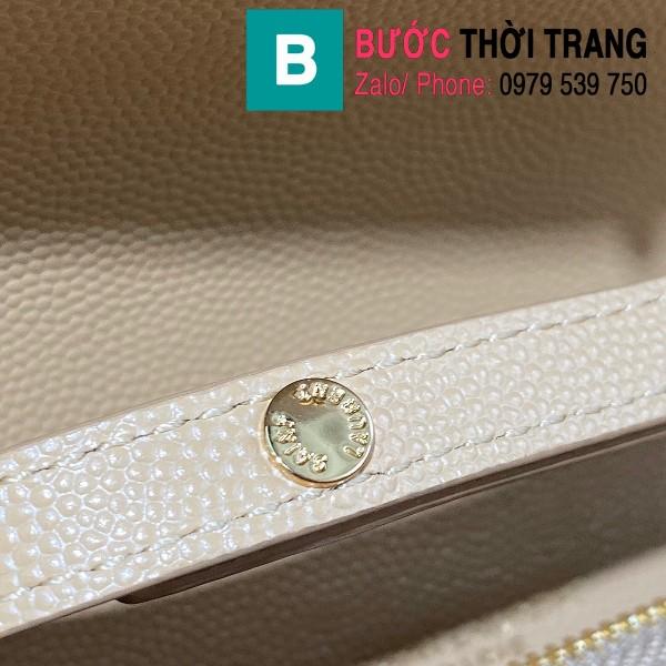 Túi ví tay cầm dây đeo YSL Saint Laurent siêu cấp da bê màu nude size 22.5cm - 620280