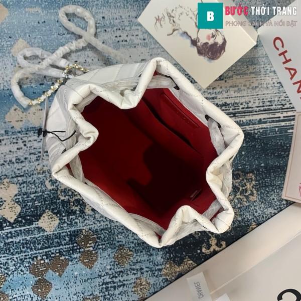Túi xách Chanel Gabrielle Backpack siêu cấp màu trắng size 24cm - A94485