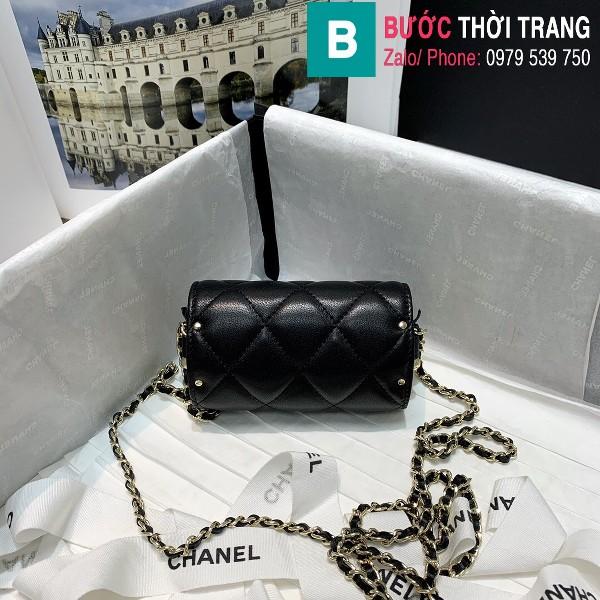 Túi đeo chéo Chanel siêu cấp da bê màu đen size 11.5cm