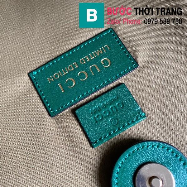 Túi xách Gucci Ophidia Raiah large tote siêu cấp canvas màu xanh size 45 cm - 537219