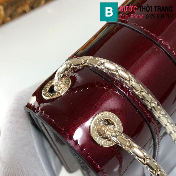 Túi xách Bvlgari Seventi forever siêu cấp da bóng màu đỏ đô size 27.5 cm