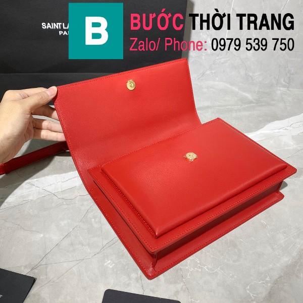 Túi xách YSL Saint Laurernt Sunset siêu cấp da bê màu đỏ size 25cm - 634723