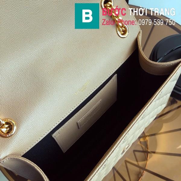 Túi xách YSL Saint Laurent Envelope bag siêu cấp da bê màu nude size 24cm - 428134