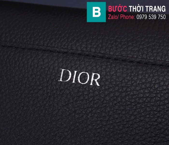 Túi xách Dior Saddle Bag {túi yên ngựa} siêu cấp da bê màu đen 2 size 24 cm