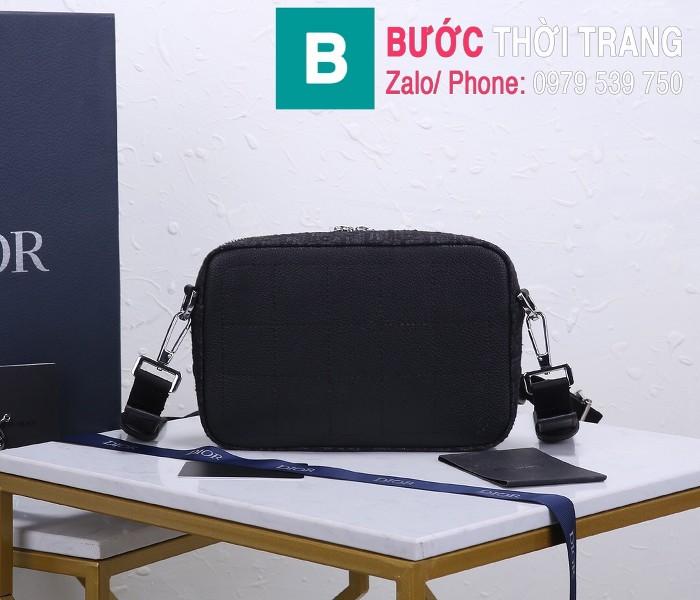Túi xách Dior Homme Mens Bag siêu cấp vải casvan màu đen 3 size 22cm - 93307