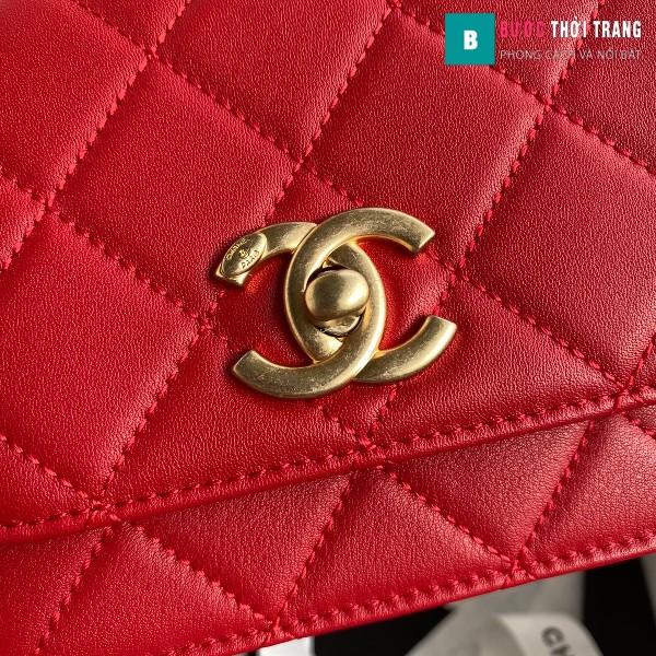 Túi xách Chanel Woke Classic Fap siêu cấp màu đỏ cừu size 15 cm - AS2052