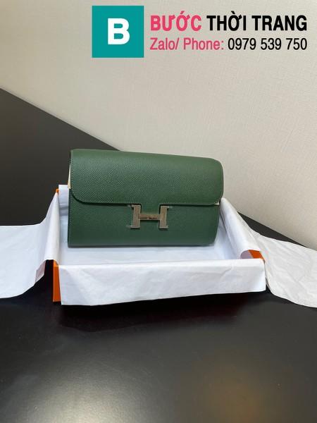 Túi xách Hermes Constance siêu cấp da epsom màu xanh size 20.5cm