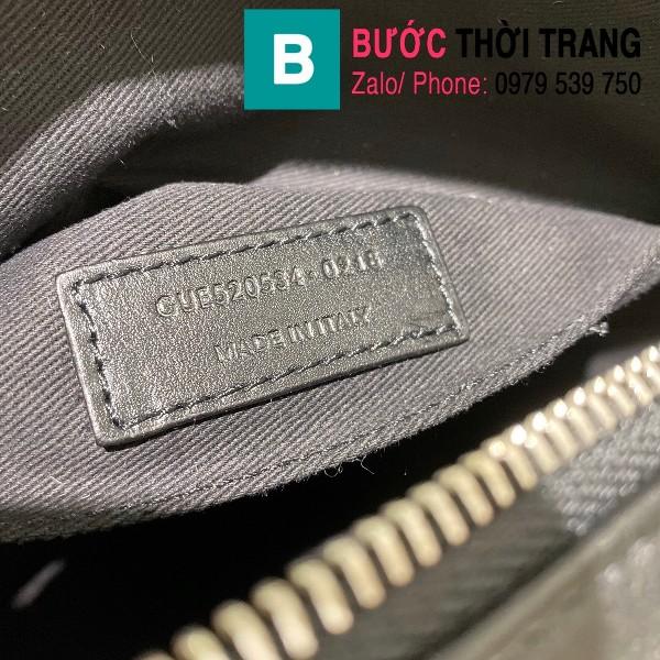 Túi đeo chéo YSL Saint Laurernt Lou siêu cấp da bê màu đen tag bạc size 23cm - 520534