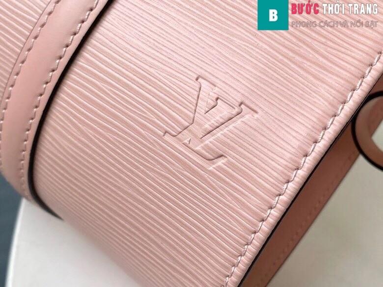 Túi xách LV Louis Vuitton Epi Soufflot Shoulder Bag siêu cấp màu hồng size 30 cm - M52222