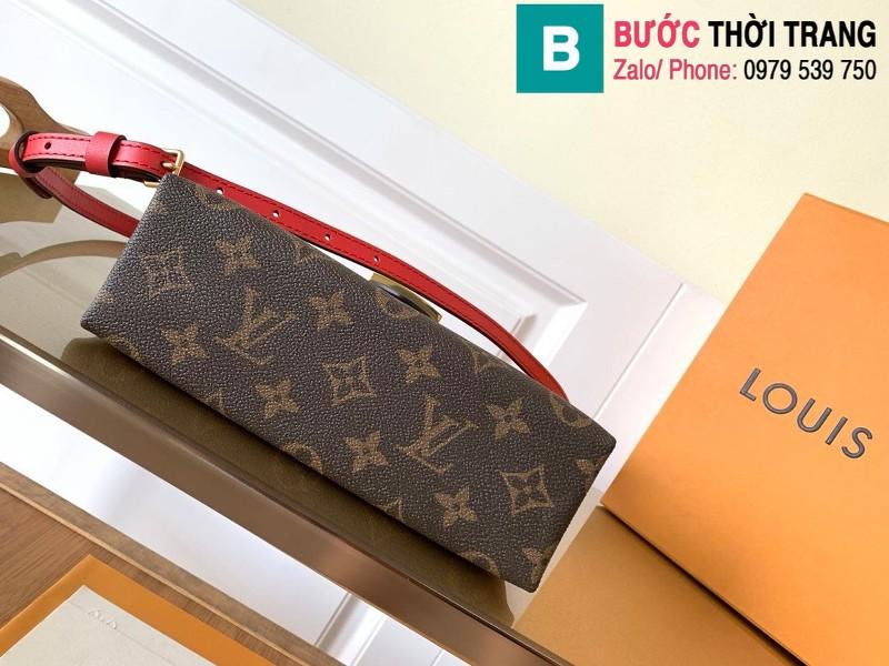 Túi xách Louis Vuitton Locky BB siêu cấp da bò màu đỏ size 20 cm - M44322