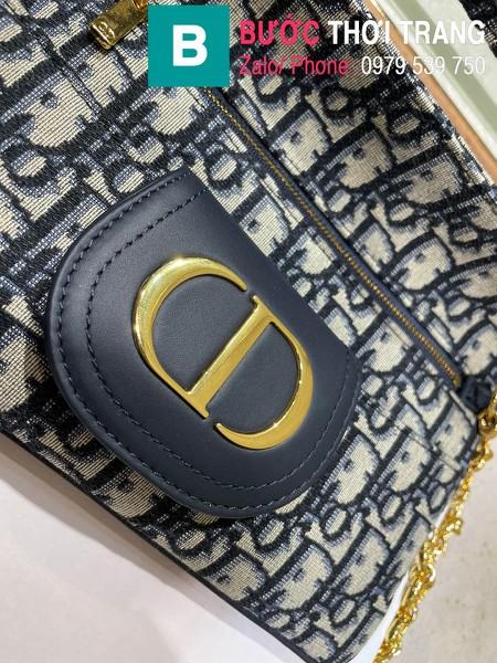 Túi xách Dior Small Diordouble Bag siêu cấp vải casvan màu đen size 22cm - 6842