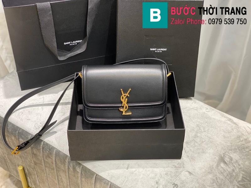 Túi xách YSL Solferino box Sant Laurent siêu cấp da bê màu đen size 23cm - 634305