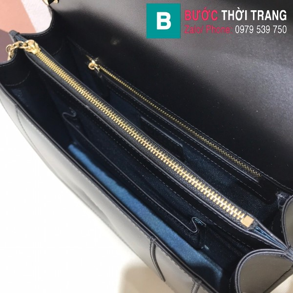 Túi Bvlgari Serventi Forever shoulder bag siêu cấp da bê màu đen size 28cm - 35106