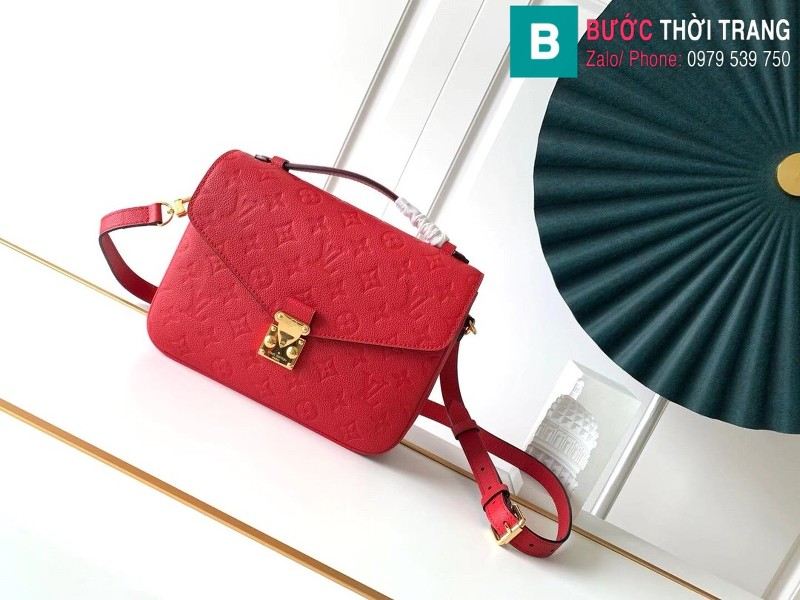 Túi Louis Vuitton Pochette Mettis siêu cấp màu đỏ size 25 cm - M41487