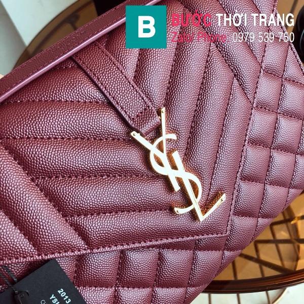 Túi xách YSL Saint Laurent Envelope bag siêu cấp da bê màu đỏ đô size 24cm - 428134