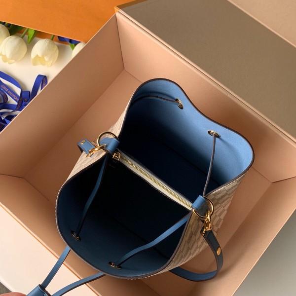 Túi xách LV Neo Noe siêu cấp caro trắng dây xanh size 26cm - N40153