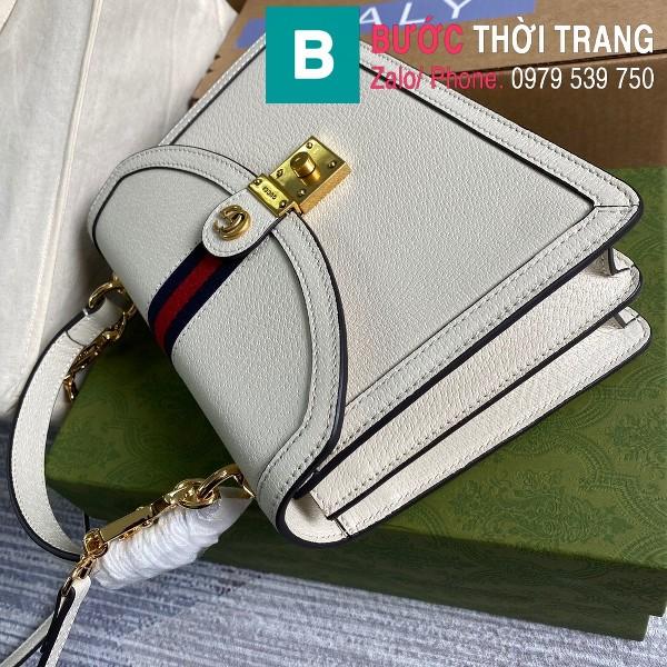 Túi xách Gucci Ophidia small top handle bag siêu cấp da bê màu trắng size 25cm - 651055
