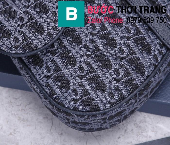 Túi xách Dior Saddle Bag siêu cấp chất liệu vải casvan màu 5 size 28.6cm