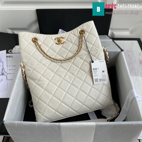Túi xách Chanel Shopping Bag siêu cấp màu trắng size 34 cm - AS2213