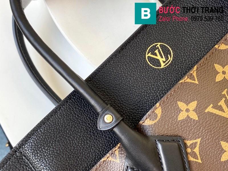 Túi xách Louis Vuitton On My Side siêu cấp da bê màu nâu size 30.5 cm - M53824