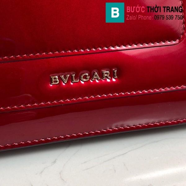 Túi xách Bvlgari Seventi forever siêu cấp da bóng màu đỏ đô size 22 cm