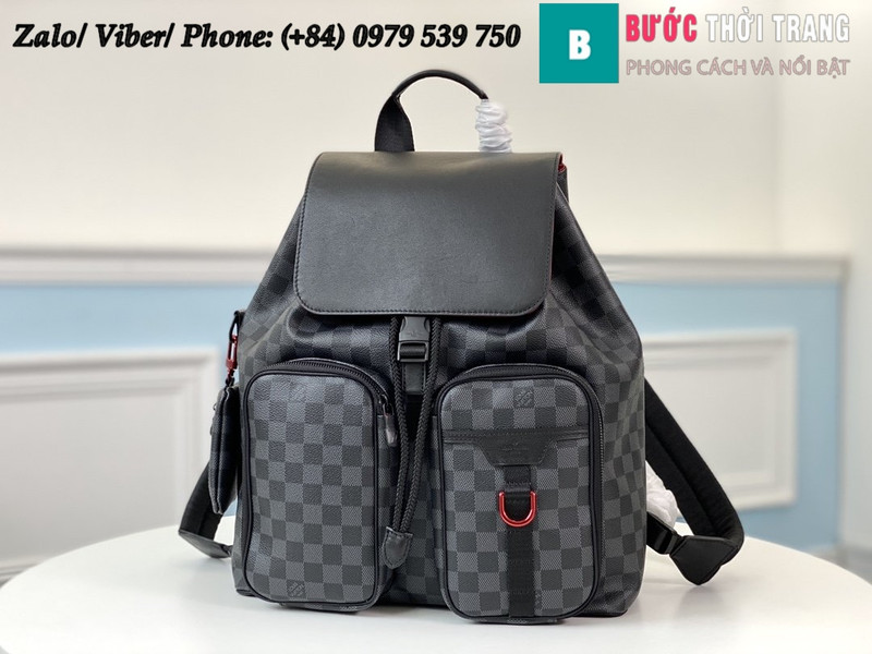 Túi Louis Vuitton Utility Backpack Damier Graphite - LV N40279