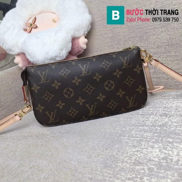 Túi Louis Vuitton Pochette siêu cấp màu nâu họa tiết size 24 cm - M40712
