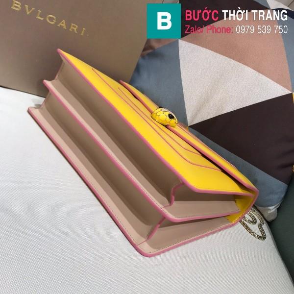 Túi Bvlgari Serventi Forever shoulder bag siêu cấp da bê màu vàng size 28cm - 35106