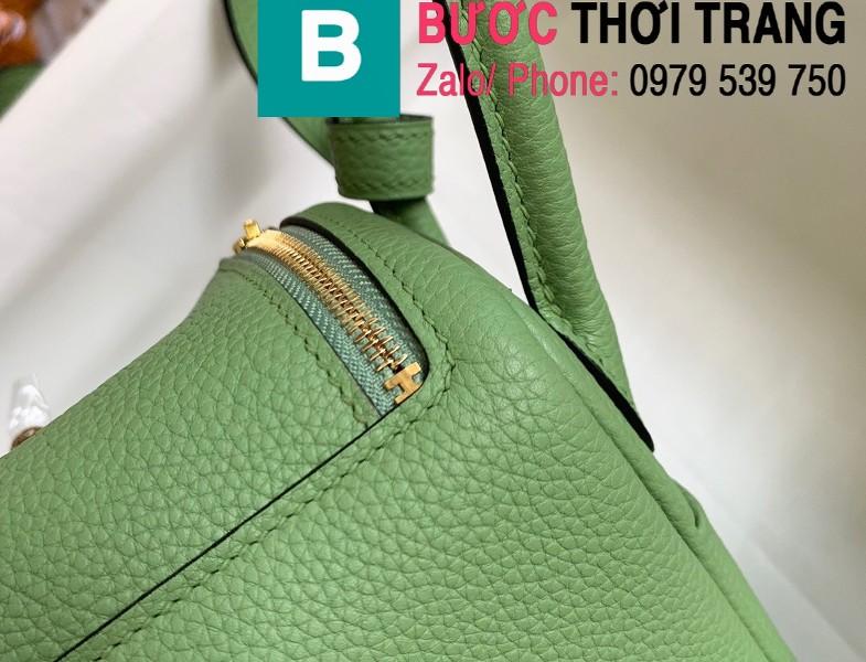 Túi xách Hermes Lindy siêu cấp da thật màu xanh chuối size 26cm