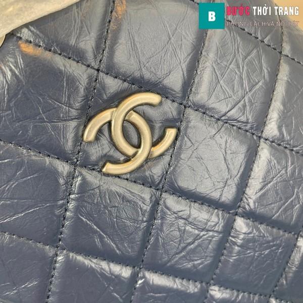 Túi xách Chanel Gabrielle Backpack siêu cấp màu xanh đen size 24cm - A94485