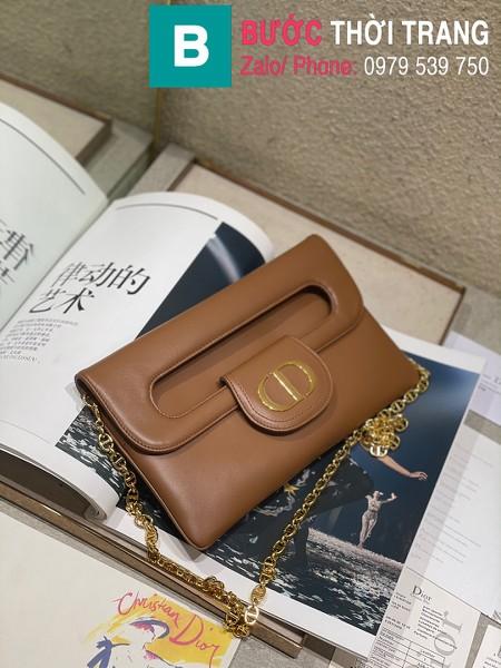 Túi xách Dior Small Diordouble Bag siêu cấp da bê màu nâu size 22cm - 6842