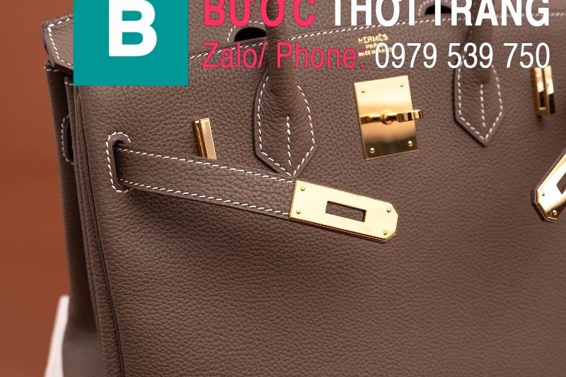 Túi xách Hermes Birkin siêu cấp da bê Togo màu be size 30cm