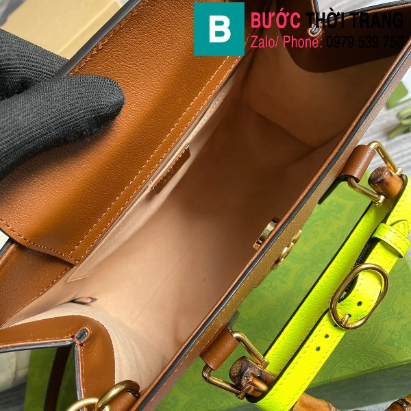 Túi xách Gucci Diana small tote bag siêu cấp da bê màu nâu size 27cm - 660195