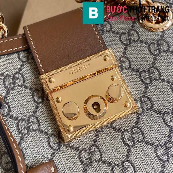 Túi xách Gucci Padlock GG small shoulder bag siêu cấp viền nâu size 26 cm - 498156